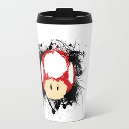 Abstract Paint Splatter Super Mushroom Travel Mug