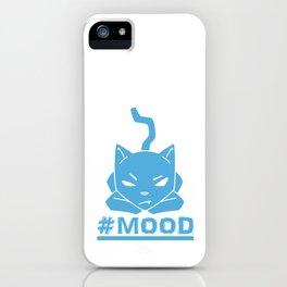 #MOOD Cat Blue iPhone Case