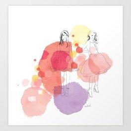 Amelia's Party Art Print