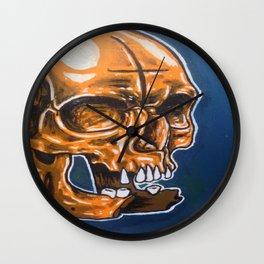Skull Oil Painting  Wall Clock