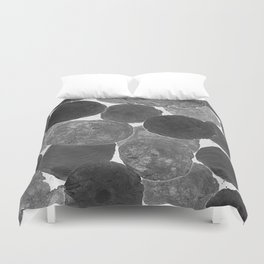 Abstract Gray Duvet Cover