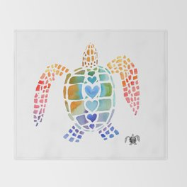 Hug a Sea Turtle Throw Blanket