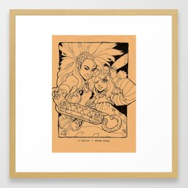 Sketch With Me: Steampunk Framed Art Print