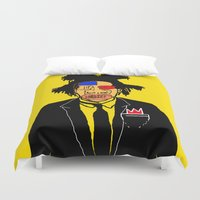basquiat Duvet Covers featuring Jean Michelle Basquiat by CultureCloth