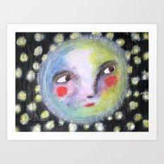 Mr.Moonlight Art Print