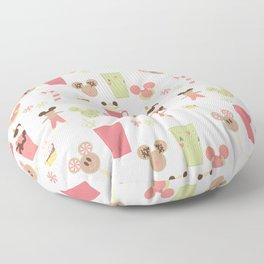 Christmas Magic Food Floor Pillow