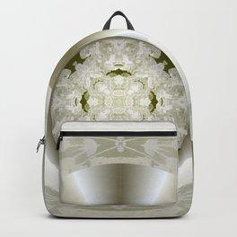 Hub Cap Art in Crystal Sepia Backpack