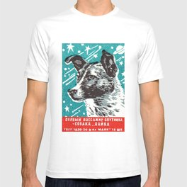 1950s Laika Space Dog Russian Matchbox Label T-shirt