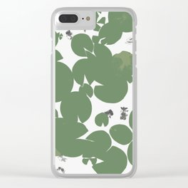 Summer fish pond with lily pads Clear iPhone Case