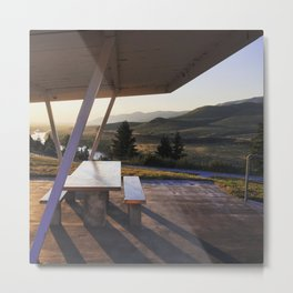 Liminal Rest Stop on the Snake River, near Idaho Falls, Idaho Metal Print