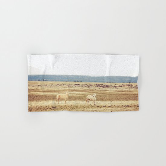 Two Oregon Horses Hand & Bath Towel
