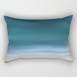 Dreamscape #7 blue-green Rectangular Pillow