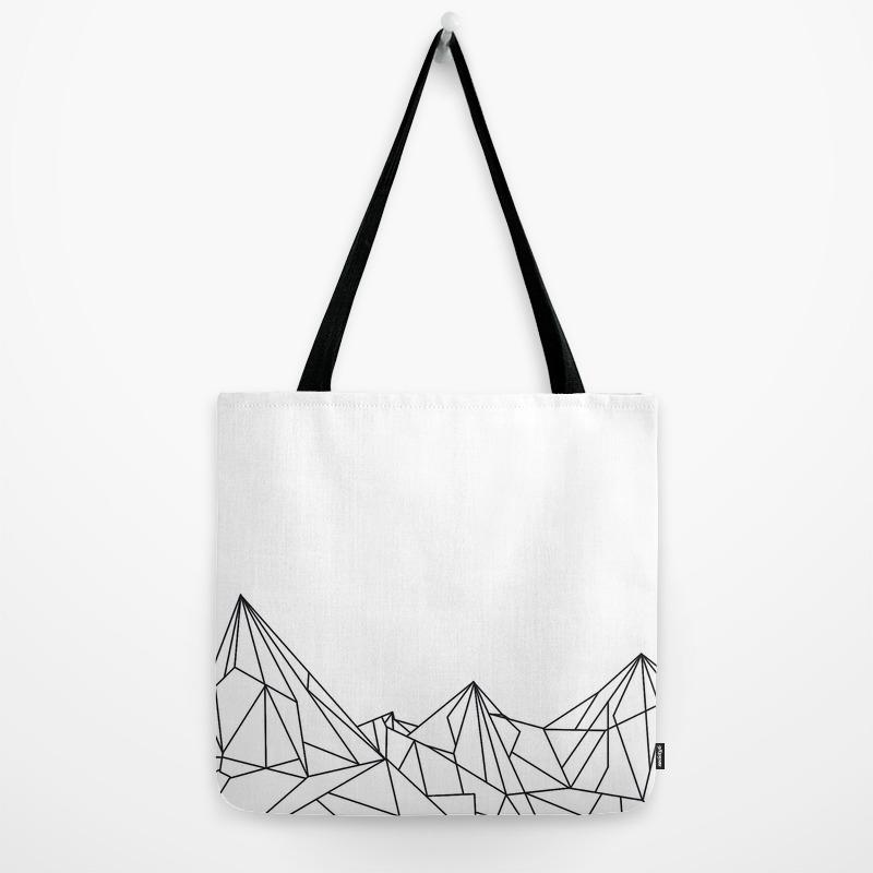 52591a273fe Night Court Mountain Design Tote Bag