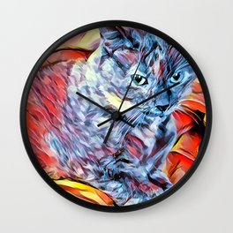 The TORTIE from our FUNK YOUR FELINE line Wall Clock