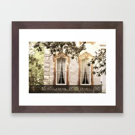 Savannah Window Decadence Framed Art Print