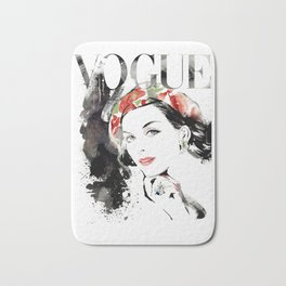 Vogue Fashion Illustration #16 Bath Mat