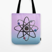 physics Tote Bags featuring Physics by IvanaW