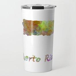 Puerto Rico  in watercolor Travel Mug