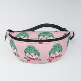 Meowy Christmas Fanny Pack