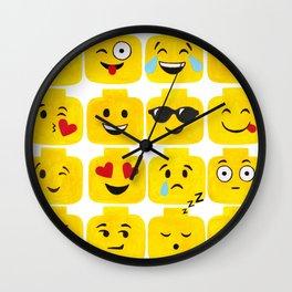 Emoji-Minifigure Wall Clock