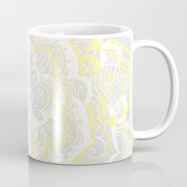 Woven Fantasy - Yellow, Grey & White Mandala Coffee Mug