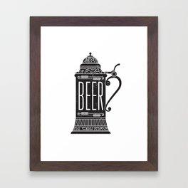 Beer Stein Framed Art Print