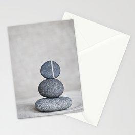 Zen cairn pebble stone balance grey Stationery Cards
