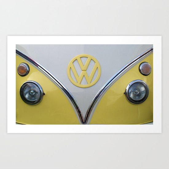 Lemon Yellow V Dub Art Print