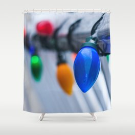 Christmas Lights Photography Print Shower Curtain