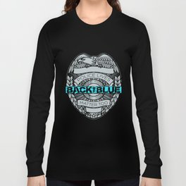 Back The Blue Thin Blue Line Flag Police Lives Matter Usa Patriotic Police T-Shirts Long Sleeve T-shirt