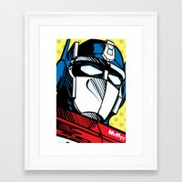 optimus prime Framed Art Prints featuring Optimus Prime by McFlyyOnTheTag