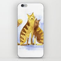 cats iPhone & iPod Skins featuring Cats by Anna Shell