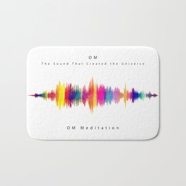 Om - The Sound that created the Universe Bath Mat