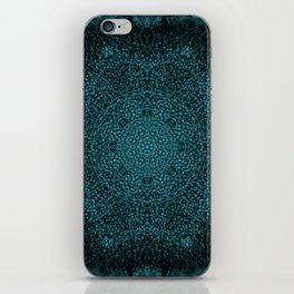 Blue Sunflower Mandala iPhone Skin