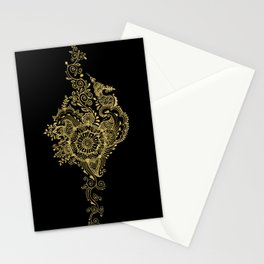Sea shell - Gold Stationery Cards
