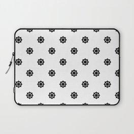 Dharma Wheel Pattern (Black and white) Laptop Sleeve