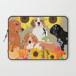 Coonhound Autumn Laptop Sleeve