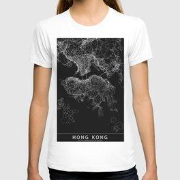 Hong Kong Black Map T-shirt
