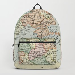 Vintage Map of Russia Backpack