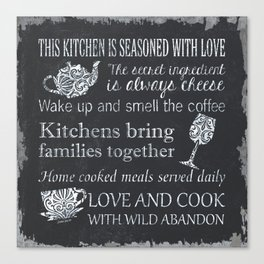 This Kitchen is Seasoned with Love Canvas Print