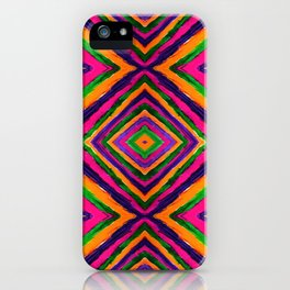 Rainbow Painted God's Eye - Pink iPhone Case