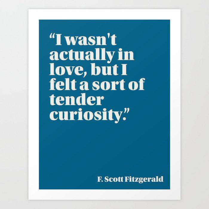 Fitzgerald on Lust Art Print