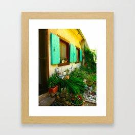 French Garden House Framed Art Print