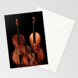 String Instruments Stationery Cards