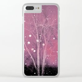 Snow Fall Clear iPhone Case