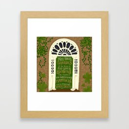 Dublin Door Proverb Framed Art Print