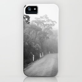 Mount Wellington Misty Road iPhone Case