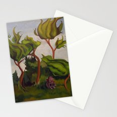 Robot in Forest Stationery Cards