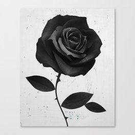 Fabric Rose Canvas Print