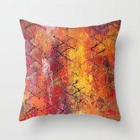 moroccan Throw Pillows featuring Moroccan  by Liz Moran